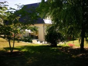 jardin vue arrière de la maison